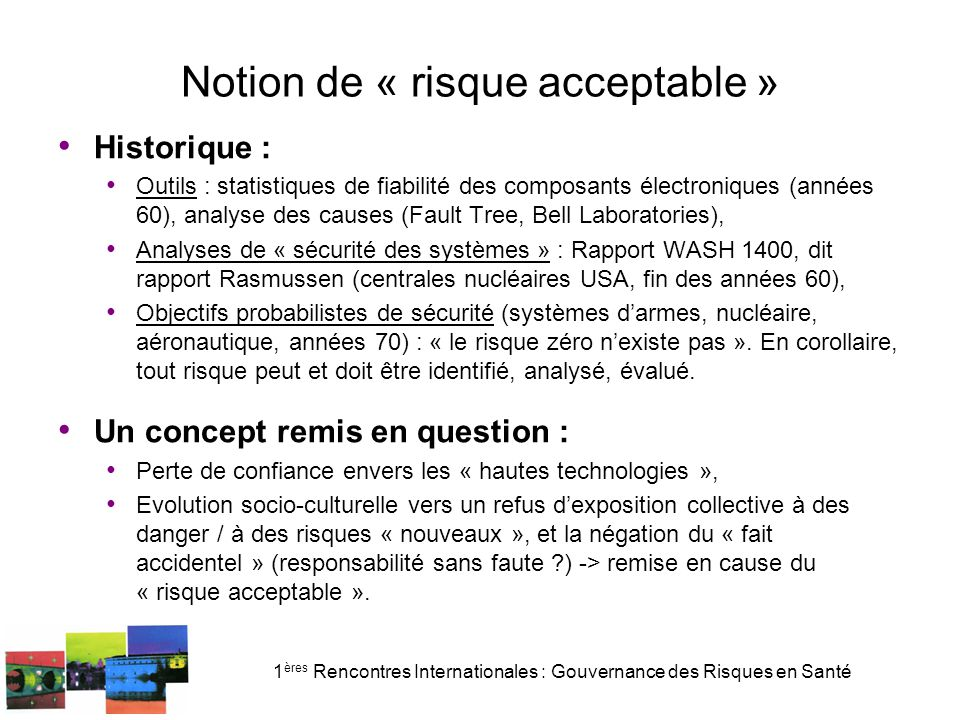 Notion de « risque acceptable »