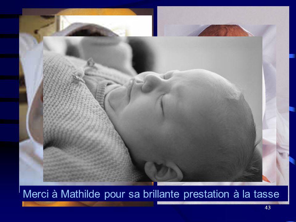 Merci à Mathilde pour sa brillante prestation à la tasse