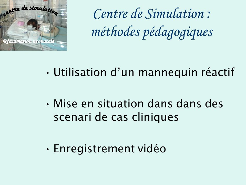 Centre de Simulation : méthodes pédagogiques