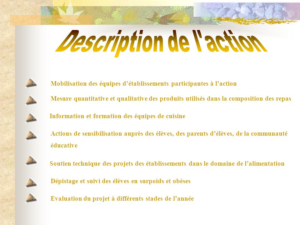 Description de l action