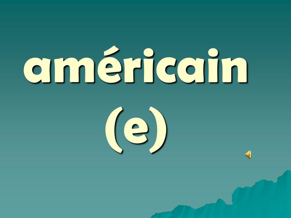 américain (e)