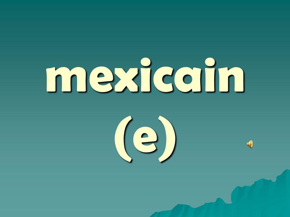 mexicain (e)
