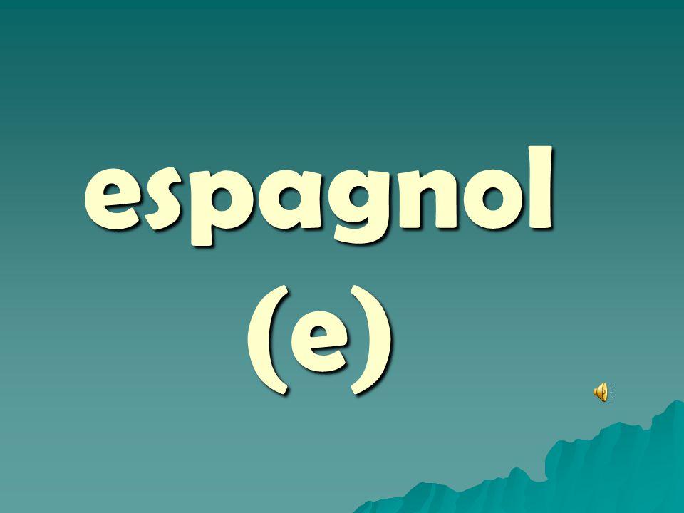 espagnol (e)