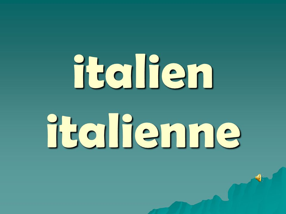 italien italienne