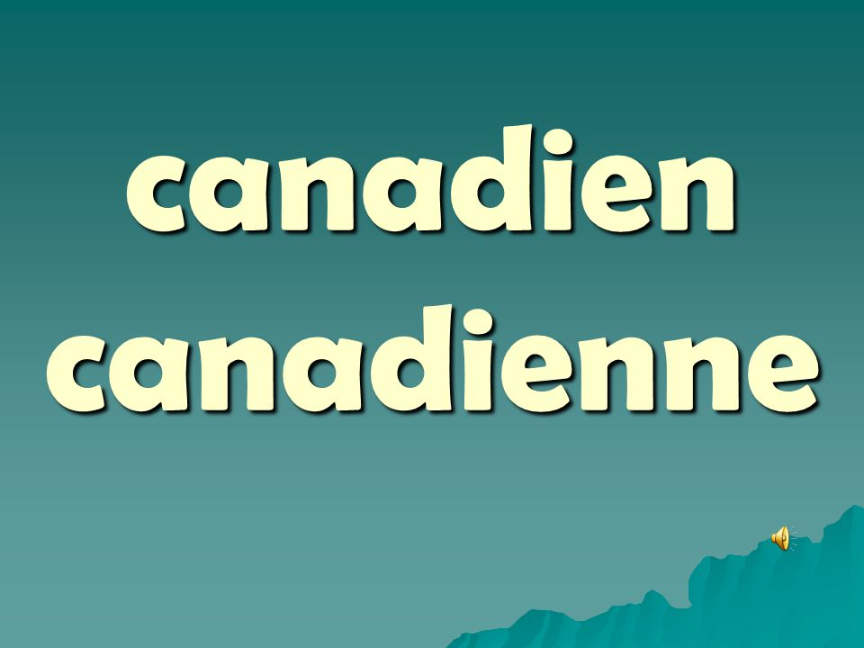 canadien canadienne
