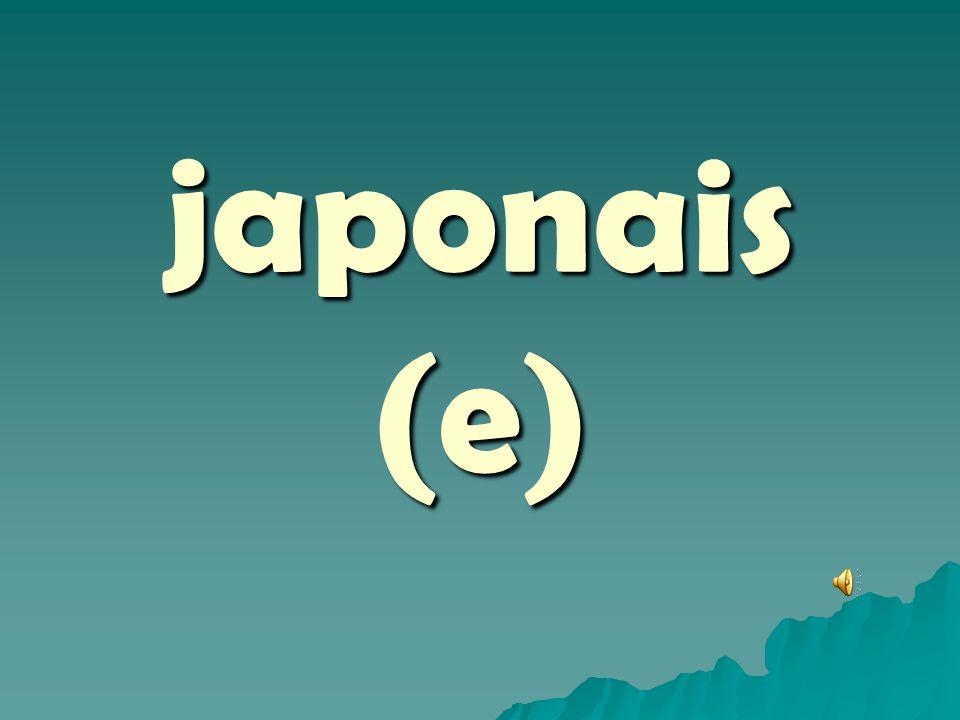japonais (e)