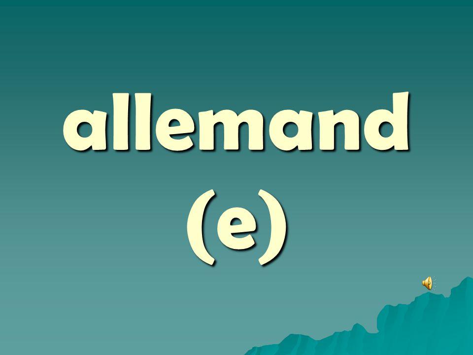 allemand (e)