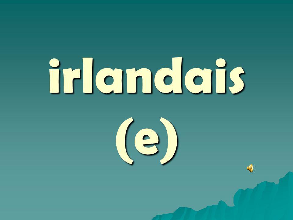 irlandais (e)