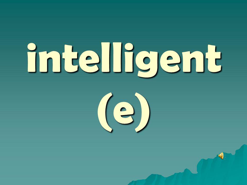 intelligent (e)