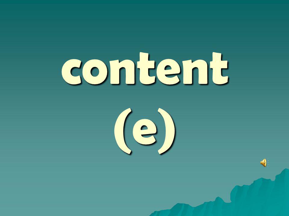 content (e)