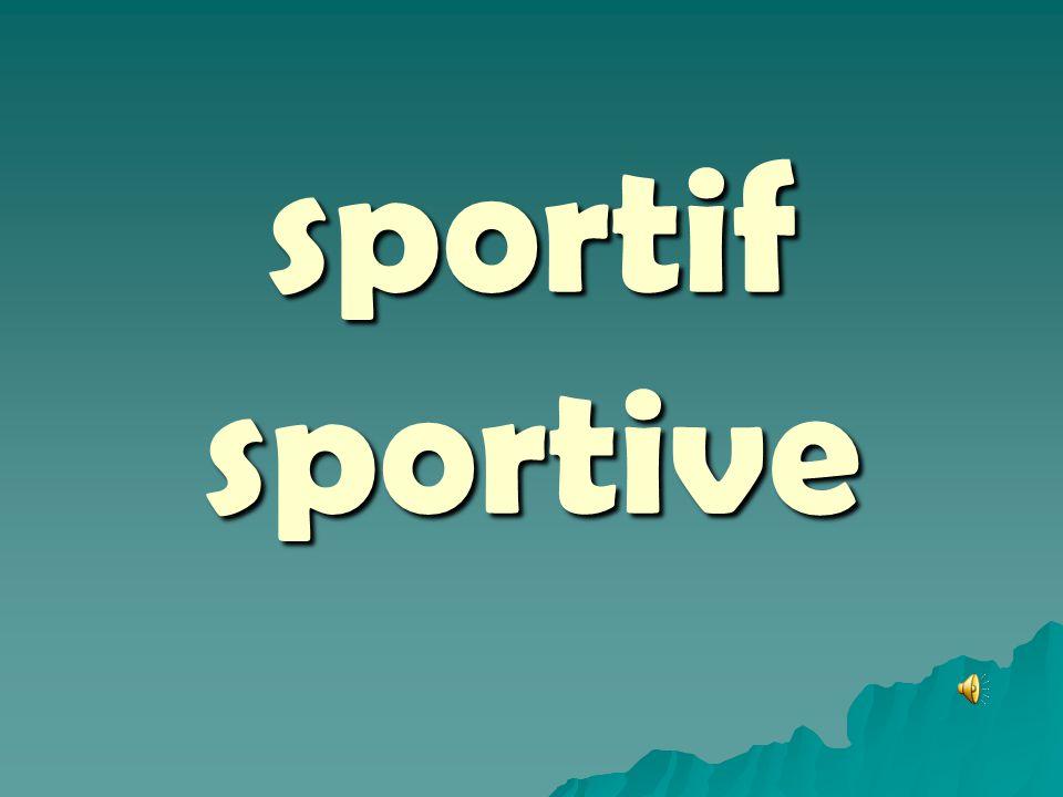 sportif sportive
