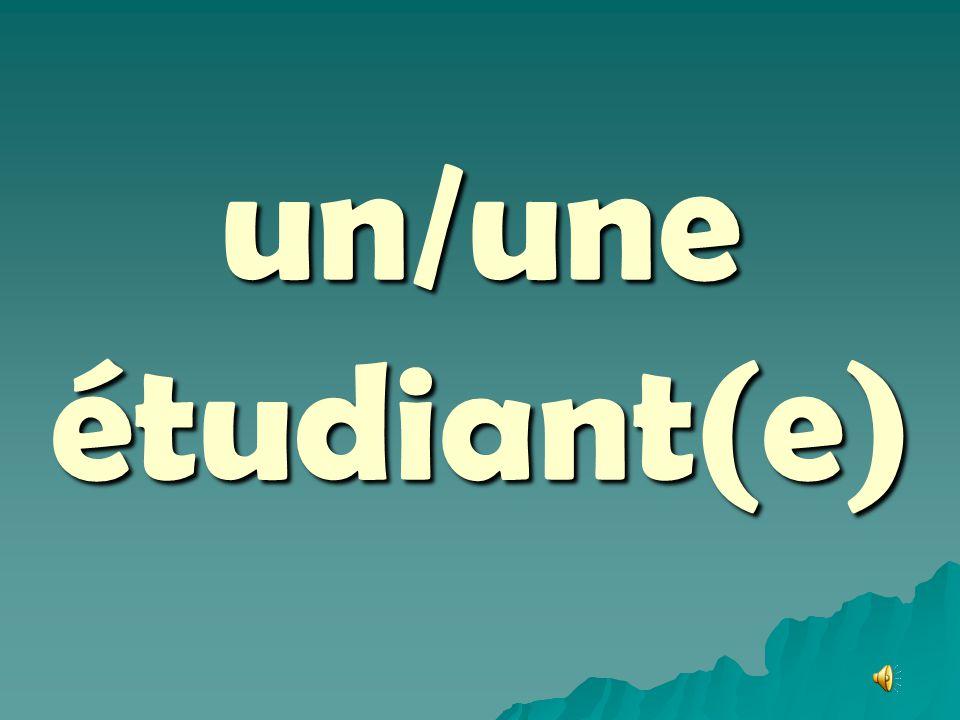 un/une étudiant(e)