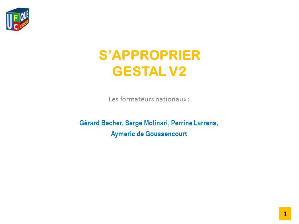 S'APPROPRIER GESTAL V2 Les formateurs nationaux :