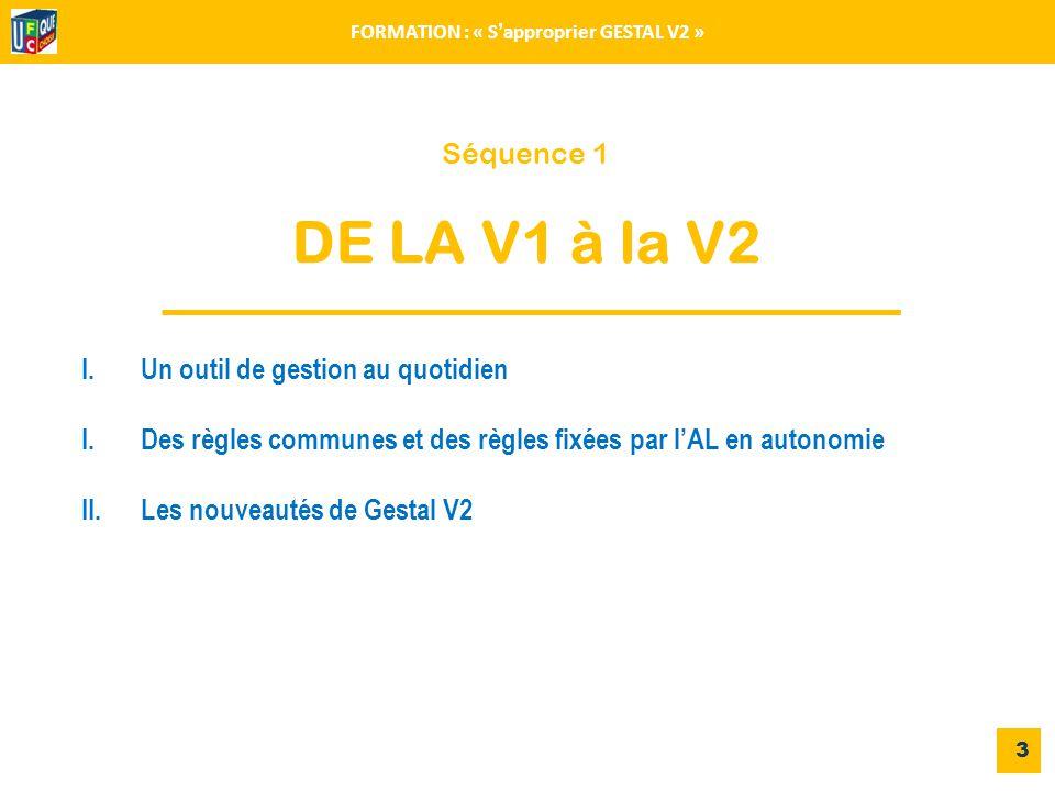 FORMATION : « S'approprier GESTAL V2 »