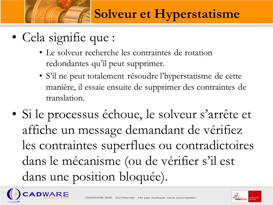 Solveur et Hyperstatisme