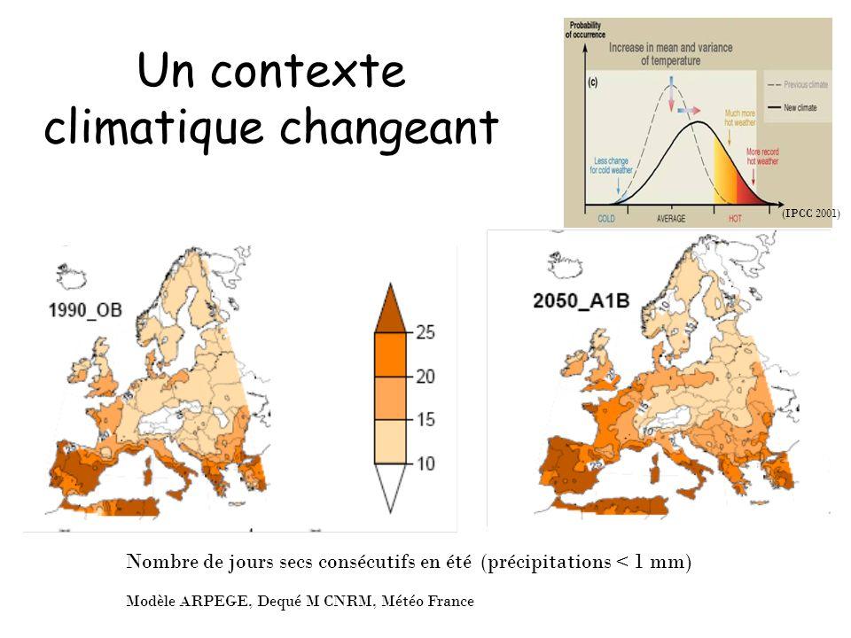 Un contexte climatique changeant