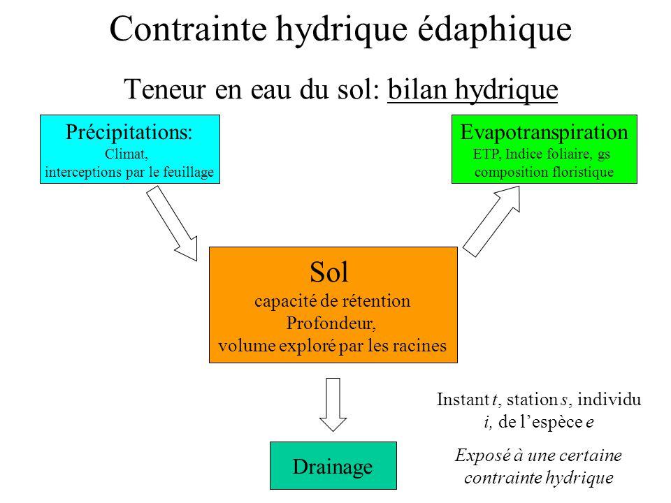 Contrainte hydrique édaphique