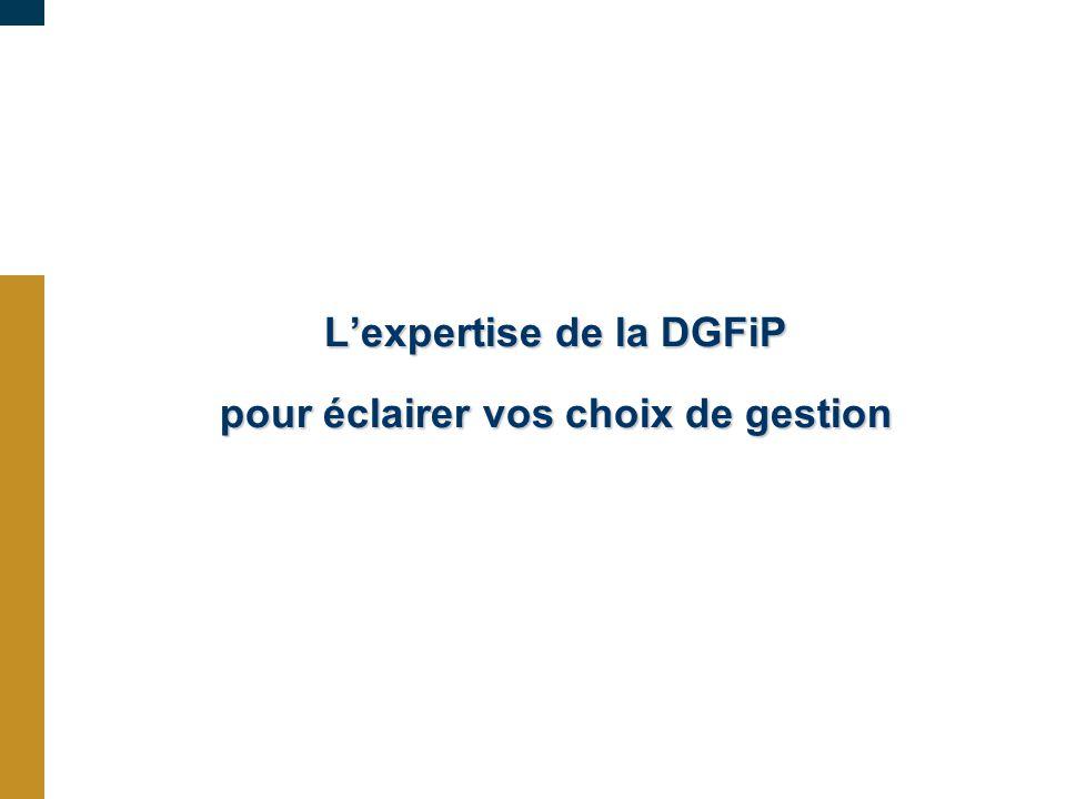 L'expertise de la DGFiP pour éclairer vos choix de gestion