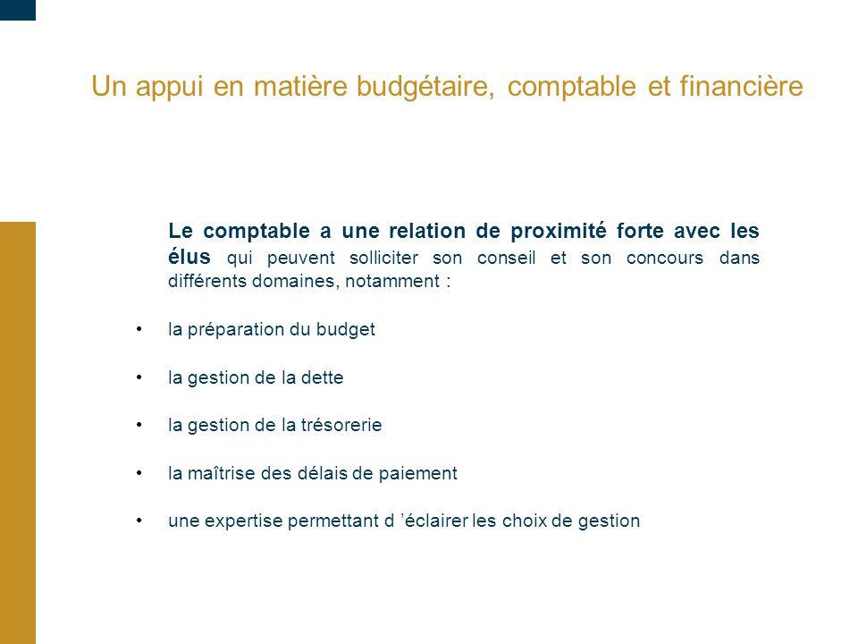 Un appui en matière budgétaire, comptable et financière