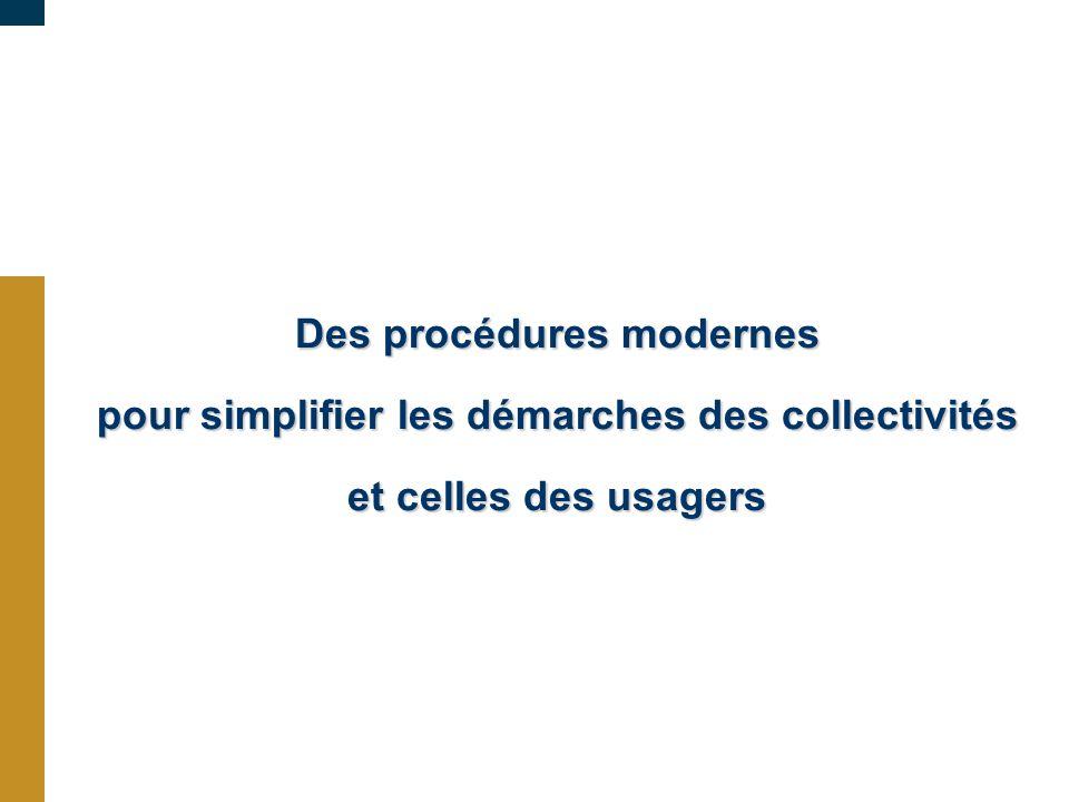 Des procédures modernes