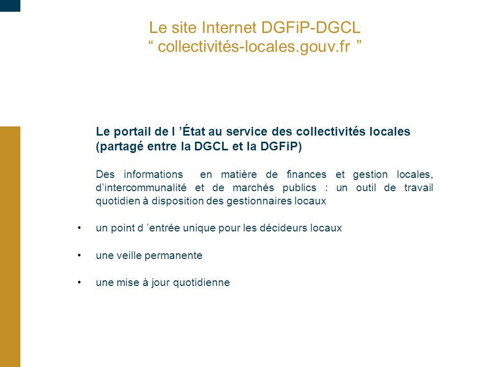 Le site Internet DGFiP-DGCL collectivités-locales.gouv.fr