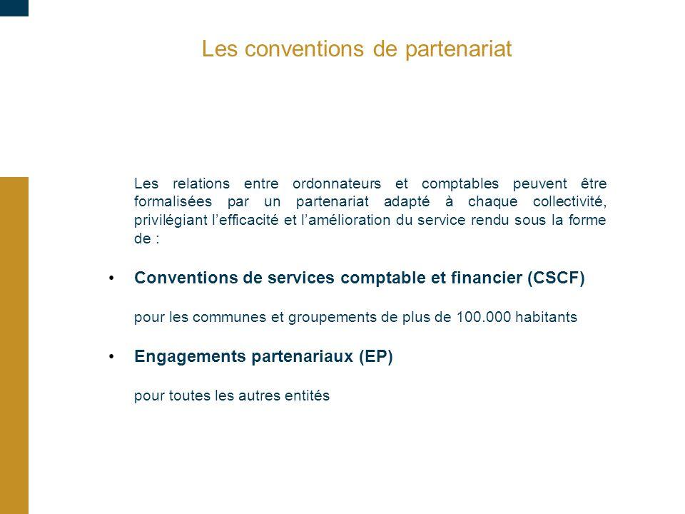 Les conventions de partenariat