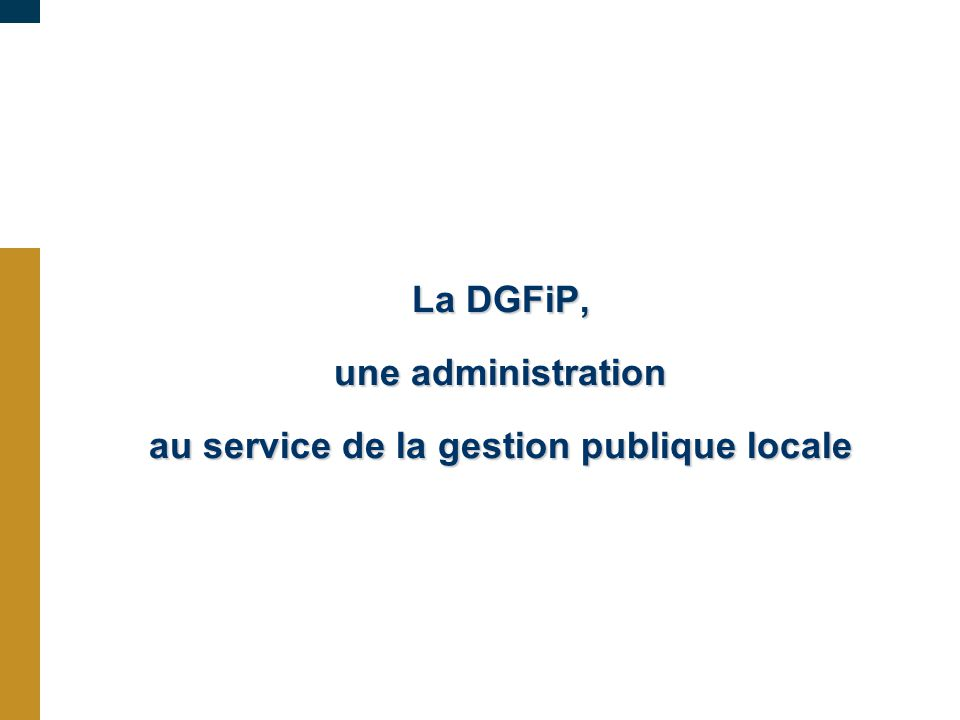 au service de la gestion publique locale