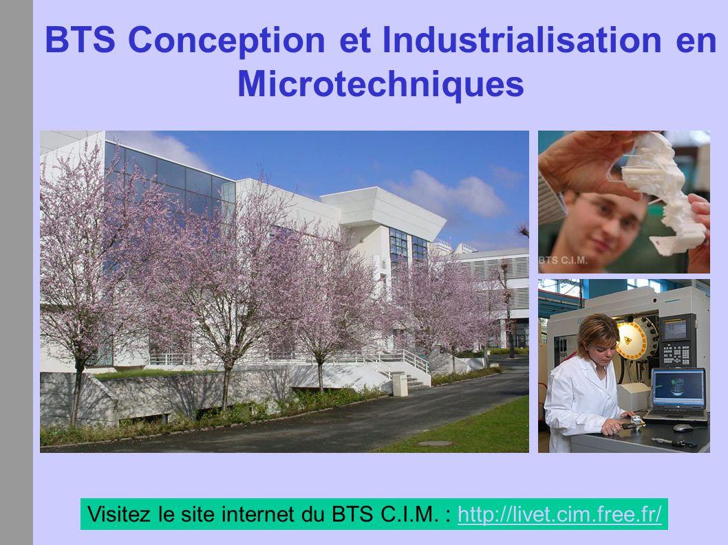 BTS Conception et Industrialisation en Microtechniques