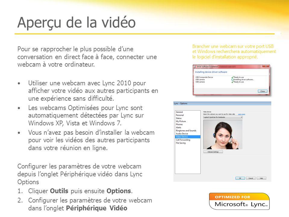 Aperçu de la vidéo Brancher une webcam sur votre port USB et Windows recherchera automatiquement le logiciel d'installation approprié.