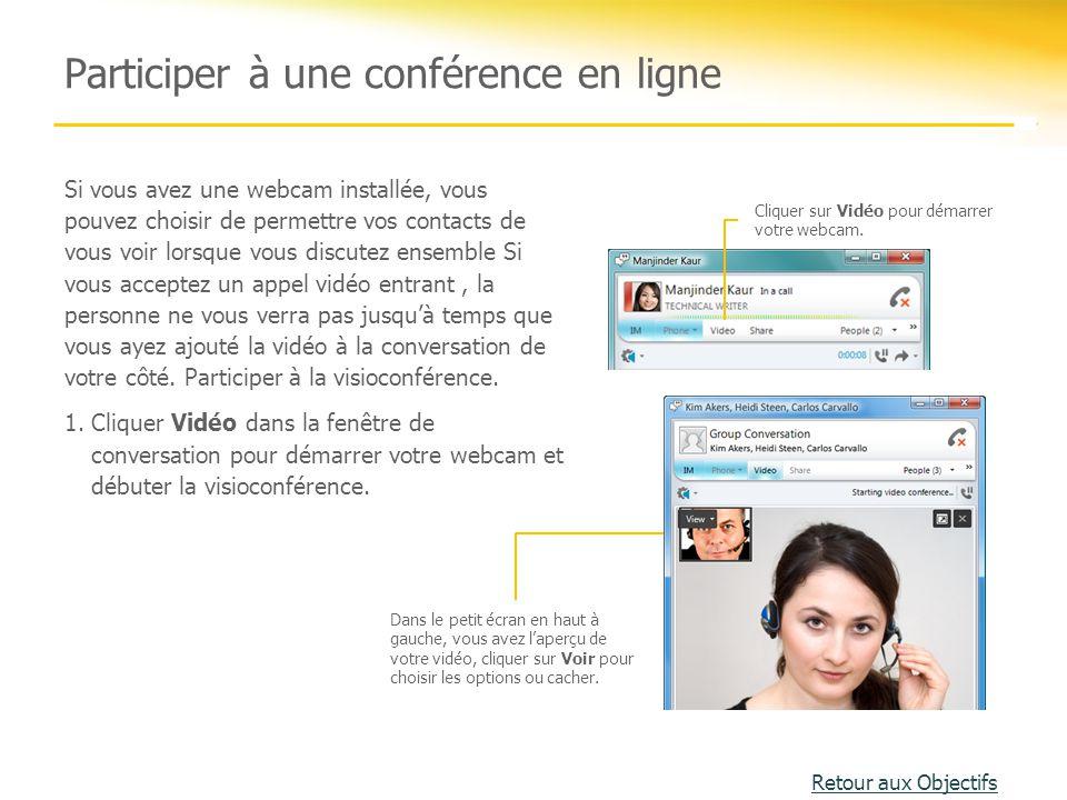 Participer à une conférence en ligne