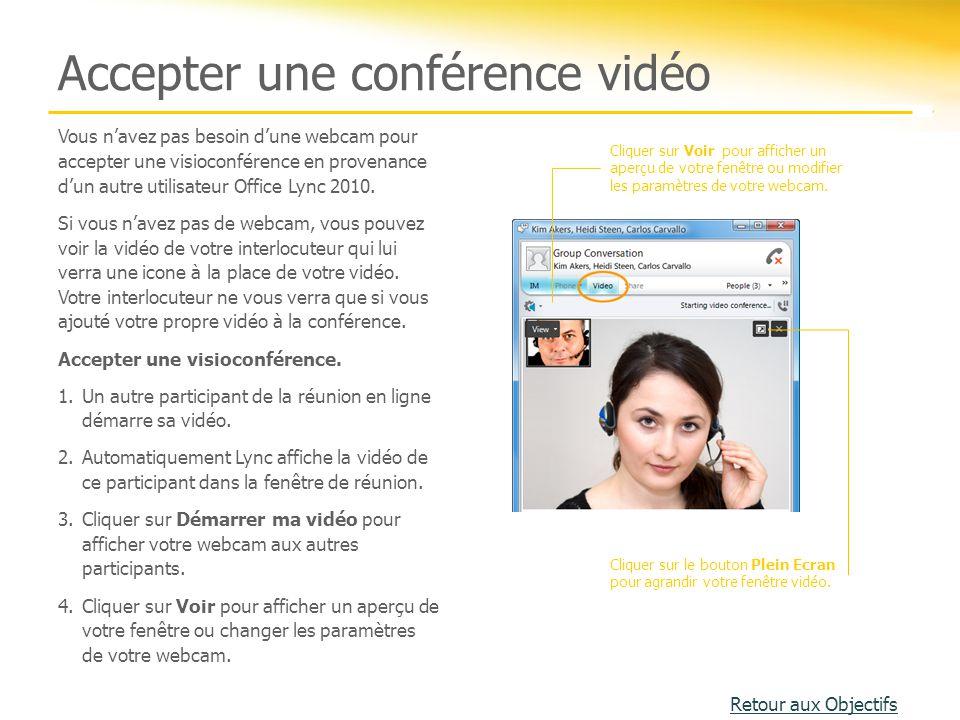 Accepter une conférence vidéo