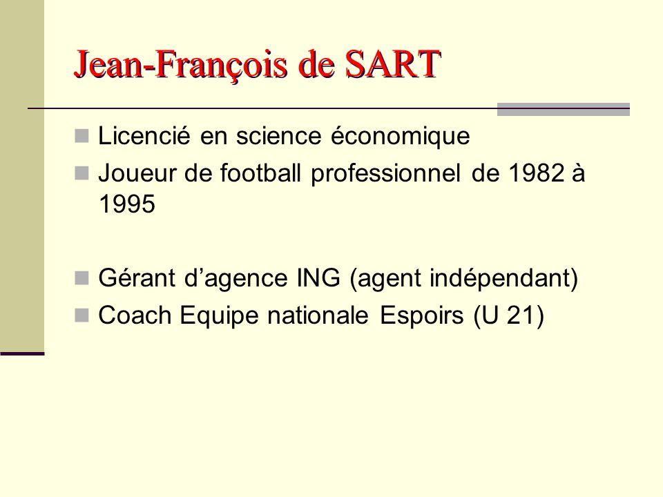 Jean-François de SART Licencié en science économique