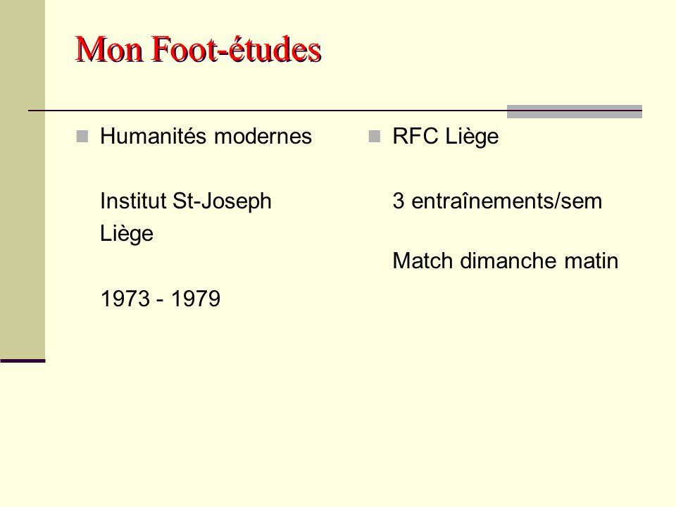 Mon Foot-études Humanités modernes Institut St-Joseph Liège