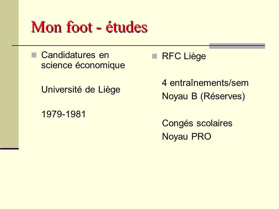 Mon foot - études Candidatures en science économique