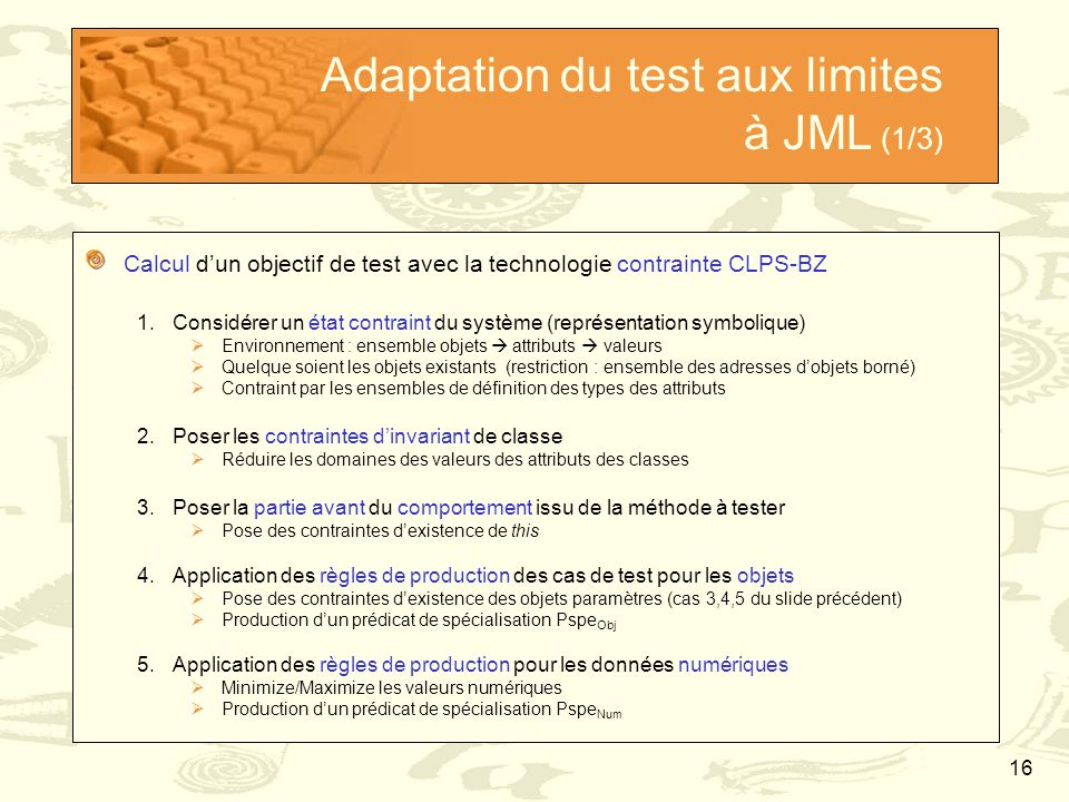 Adaptation du test aux limites à JML (1/3)