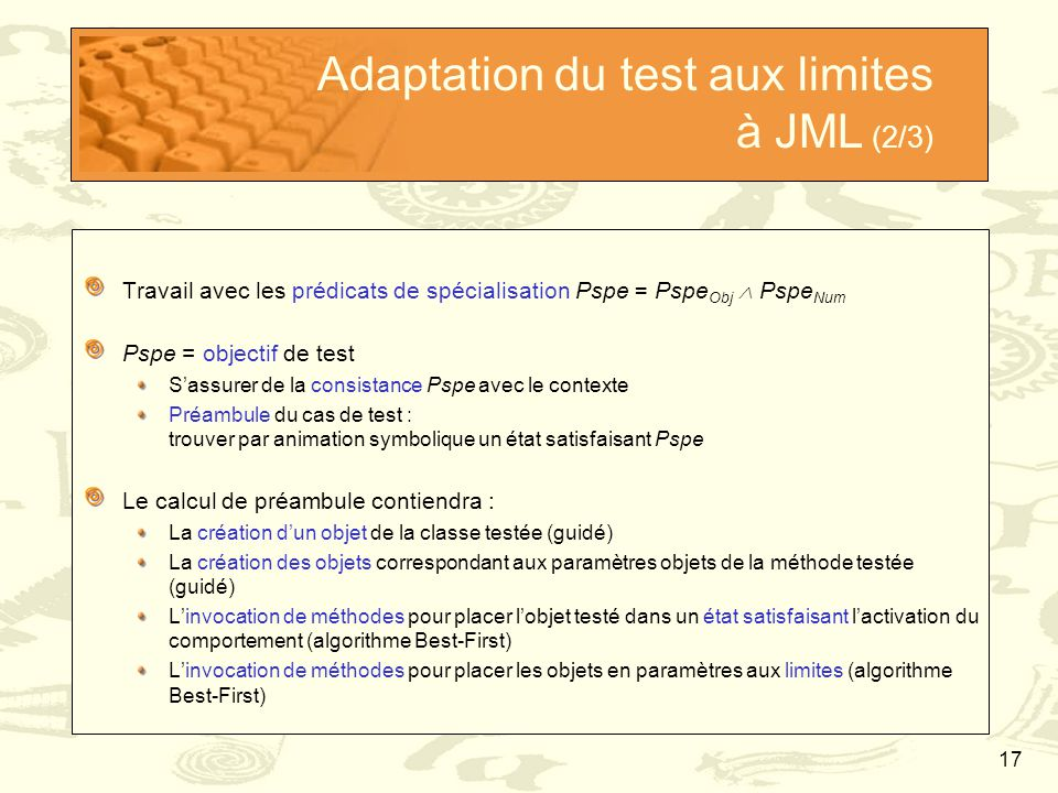 Adaptation du test aux limites à JML (2/3)