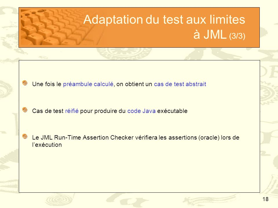 Adaptation du test aux limites à JML (3/3)