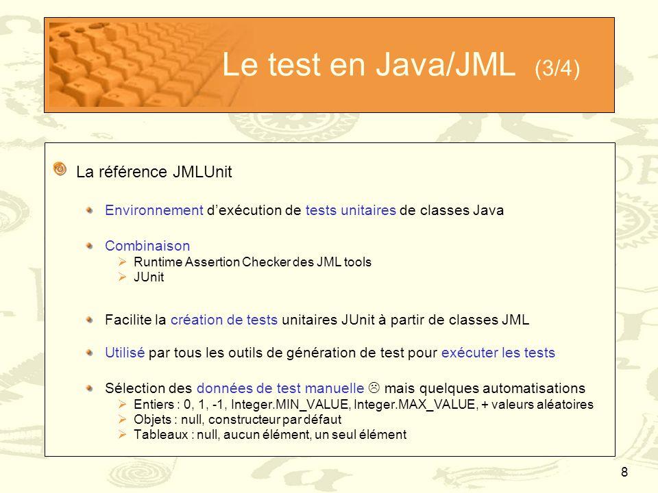Le test en Java/JML (3/4) La référence JMLUnit