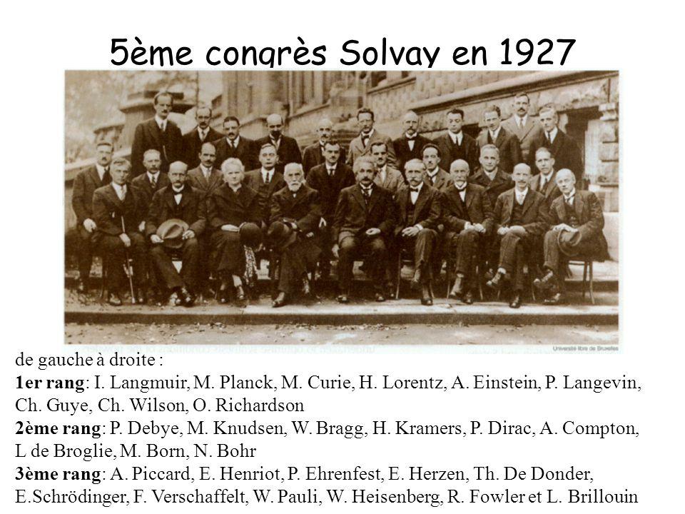 5ème congrès Solvay en 1927