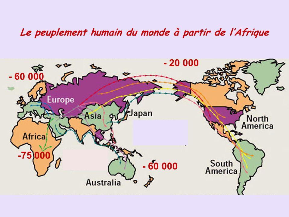 Le peuplement humain du monde à partir de l'Afrique