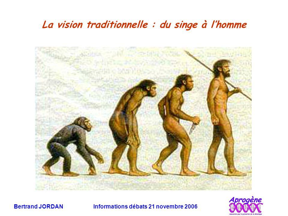 La vision traditionnelle : du singe à l'homme