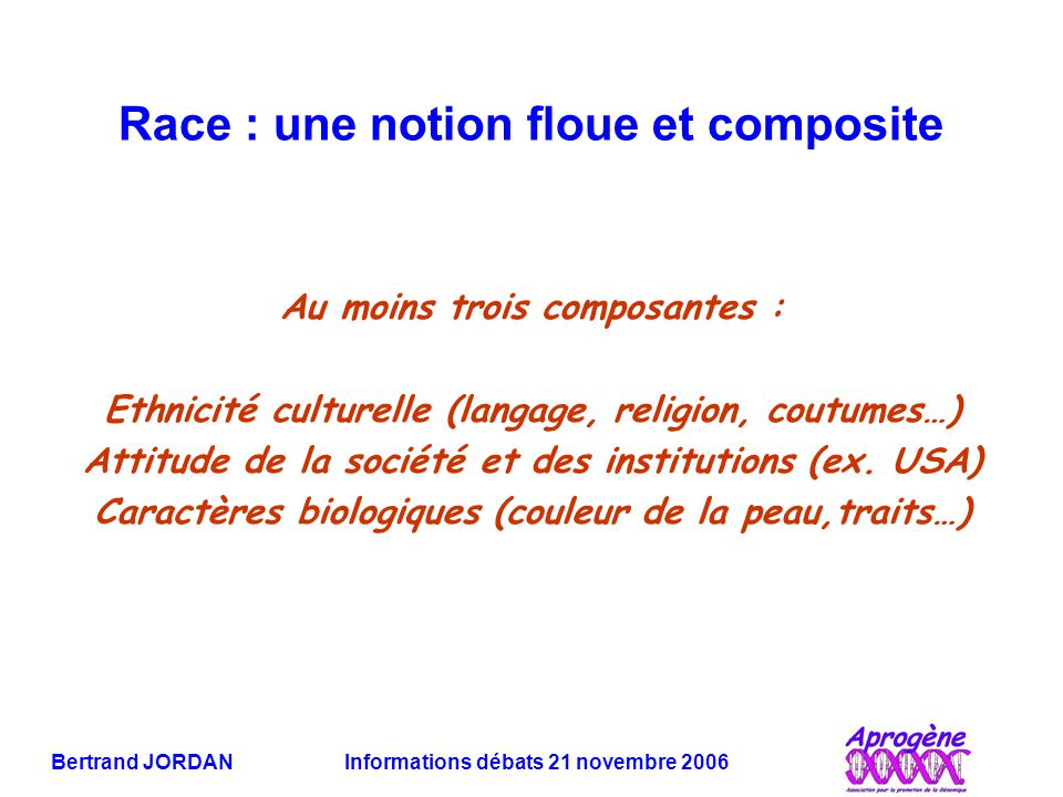 Race : une notion floue et composite