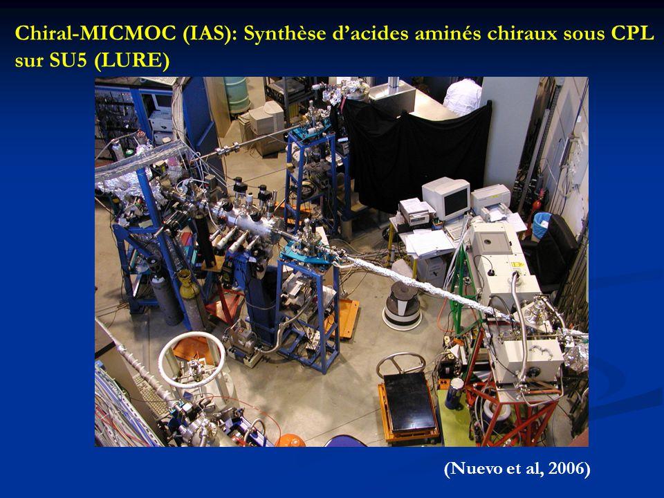 Chiral-MICMOC (IAS): Synthèse d'acides aminés chiraux sous CPL