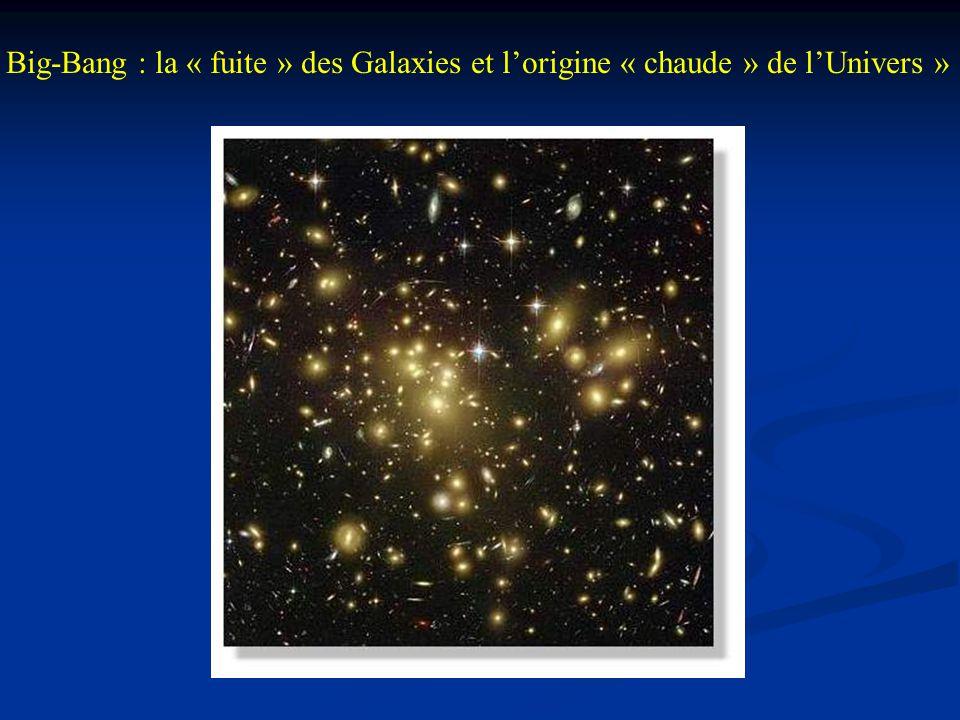 Big-Bang : la « fuite » des Galaxies et l'origine « chaude » de l'Univers »