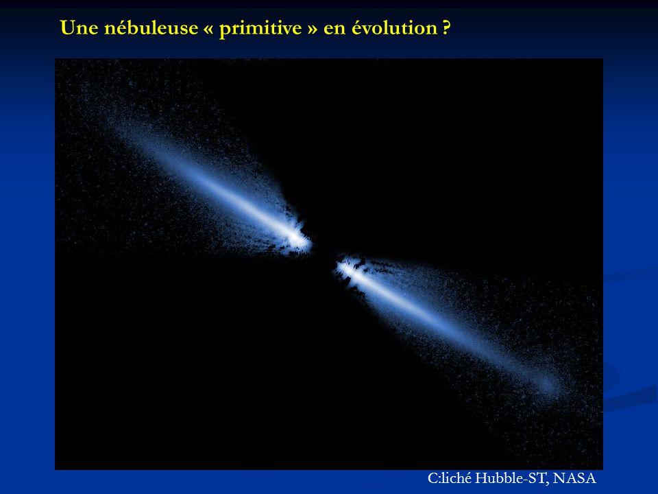 Une nébuleuse « primitive » en évolution