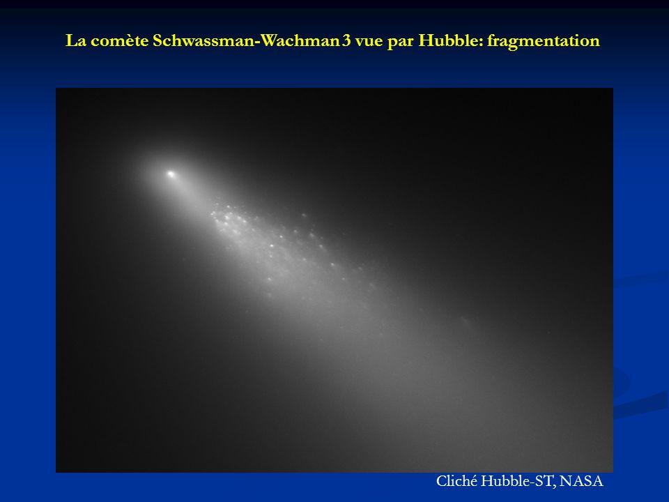 La comète Schwassman-Wachman 3 vue par Hubble: fragmentation