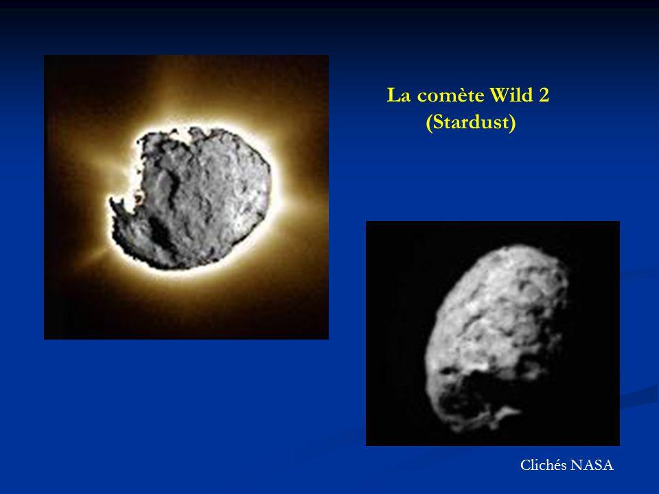 La comète Wild 2 (Stardust) Clichés NASA