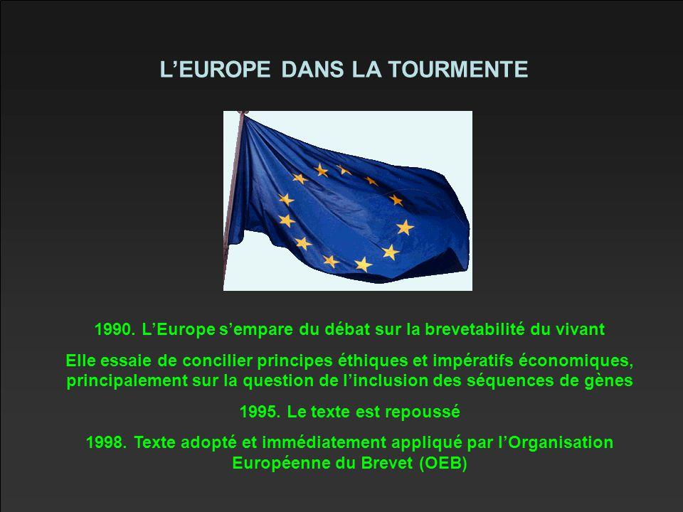 L'EUROPE DANS LA TOURMENTE