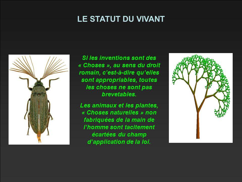 LE STATUT DU VIVANT