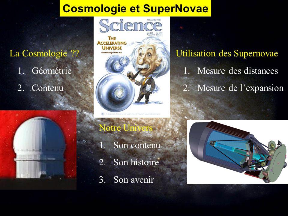 Cosmologie et SuperNovae
